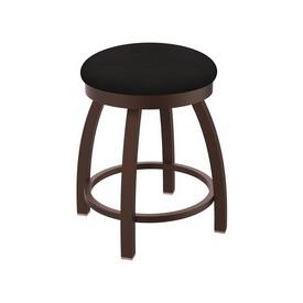 "802 Misha 18"" Swivel Vanity Stool with Bronze Finish and Canter Espresso Seat"