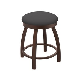 """802 Misha 18"""" Swivel Vanity Stool with Bronze Finish and Canter Storm Seat"""