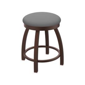 "802 Misha 18"" Swivel Vanity Stool with Bronze Finish and Canter Folkstone Grey Seat"