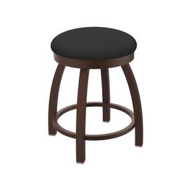 "802 Misha 18"" Swivel Vanity Stool with Bronze Finish and Canter Iron Seat"