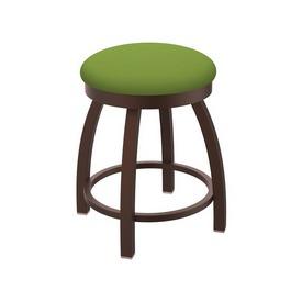 "802 Misha 18"" Swivel Vanity Stool with Bronze Finish and Canter Kiwi Green Seat"
