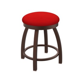 """802 Misha 18"""" Swivel Vanity Stool with Bronze Finish and Canter Red Seat"""