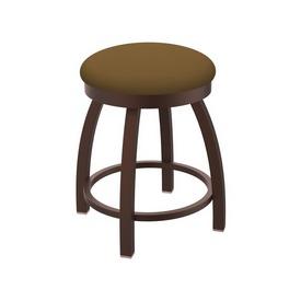 """802 Misha 18"""" Swivel Vanity Stool with Bronze Finish and Canter Saddle Seat"""