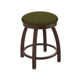 """802 Misha 18"""" Swivel Vanity Stool with Bronze Finish and Graph Parrot Seat"""