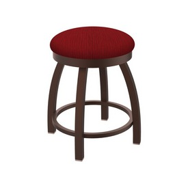 """802 Misha 18"""" Swivel Vanity Stool with Bronze Finish and Graph Ruby Seat"""