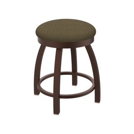 "802 Misha 18"" Swivel Vanity Stool with Bronze Finish and Graph Cork Seat"