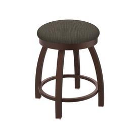 "802 Misha 18"" Swivel Vanity Stool with Bronze Finish and Graph Chalice Seat"