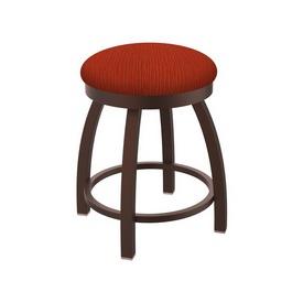 "802 Misha 18"" Swivel Vanity Stool with Bronze Finish and Graph Poppy Seat"