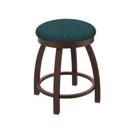 "802 Misha 18"" Swivel Vanity Stool with Bronze Finish and Graph Tidal Seat"