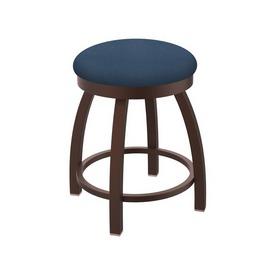 "802 Misha 18"" Swivel Vanity Stool with Bronze Finish and Rein Bay Seat"