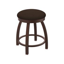 "802 Misha 18"" Swivel Vanity Stool with Bronze Finish and Rein Coffee Seat"