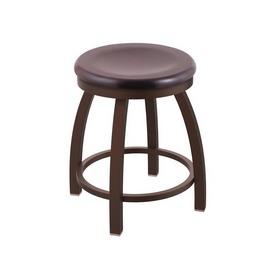 """802 Misha 18"""" Swivel Vanity Stool with Bronze Finish and Dark Cherry Maple Seat"""