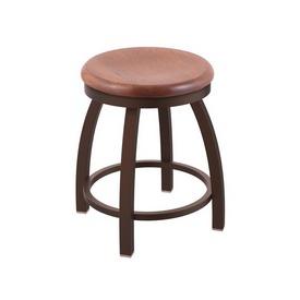 "802 Misha 18"" Swivel Vanity Stool with Bronze Finish and Medium Oak Seat"