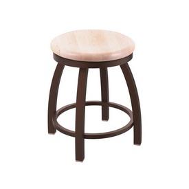 "802 Misha 18"" Swivel Vanity Stool with Bronze Finish and Natural Maple Seat"