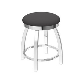 """802 Misha 18"""" Swivel Vanity Stool with Chrome Finish and Canter Storm Seat"""