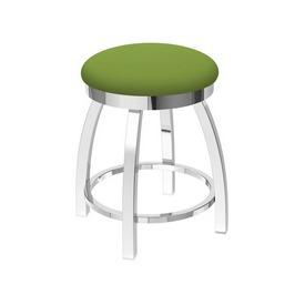 "802 Misha 18"" Swivel Vanity Stool with Chrome Finish and Canter Kiwi Green Seat"