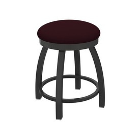 """802 Misha 18"""" Swivel Vanity Stool with Pewter Finish and Canter Bordeaux Seat"""