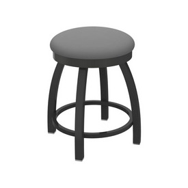 """802 Misha 18"""" Swivel Vanity Stool with Pewter Finish and Canter Folkstone Grey Seat"""
