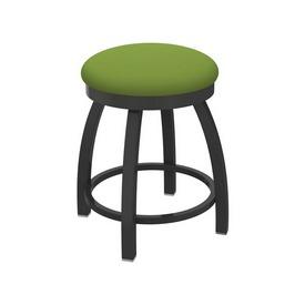"802 Misha 18"" Swivel Vanity Stool with Pewter Finish and Canter Kiwi Green Seat"
