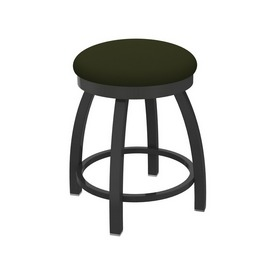 """802 Misha 18"""" Swivel Vanity Stool with Pewter Finish and Canter Pine Seat"""