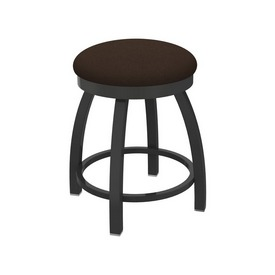 """802 Misha 18"""" Swivel Vanity Stool with Pewter Finish and Rein Coffee Seat"""