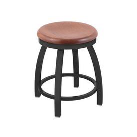 """802 Misha 18"""" Swivel Vanity Stool with Pewter Finish and Medium Oak Seat"""