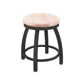"""802 Misha 18"""" Swivel Vanity Stool with Pewter Finish and Natural Maple Seat"""