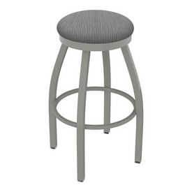 802 Misha Swivel Stool with Anodized Nickel Finish and Graph Alpine Seat