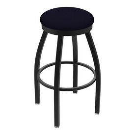 "802 Misha 36"" Swivel Extra Tall Bar Stool with Black Wrinkle Finish and Canter Twilight Seat"