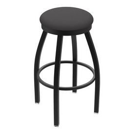 "802 Misha 36"" Swivel Extra Tall Bar Stool with Black Wrinkle Finish and Canter Storm Seat"
