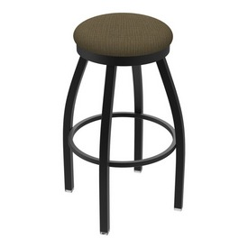 "802 Misha 36"" Swivel Extra Tall Bar Stool with Black Wrinkle Finish and Graph Cork Seat"