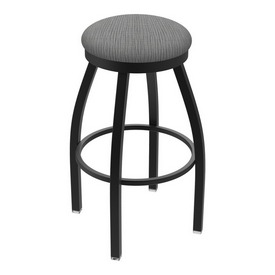 "802 Misha 36"" Swivel Extra Tall Bar Stool with Black Wrinkle Finish and Graph Alpine Seat"