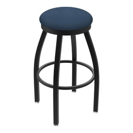"802 Misha 36"" Swivel Extra Tall Bar Stool with Black Wrinkle Finish and Rein Bay Seat"