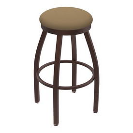 802 Misha Swivel Stool with Bronze Finish and Canter Sand Seat