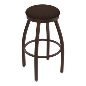 802 Misha Swivel Stool with Bronze Finish and Rein Coffee Seat