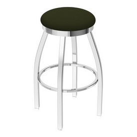 802 Misha Swivel Stool with Chrome Finish and Canter Pine Seat