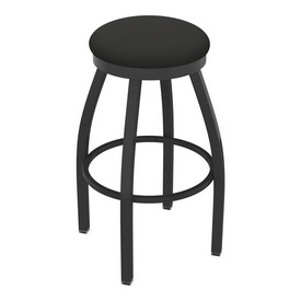 802 Misha Swivel Stool with Pewter Finish and Canter Iron Seat