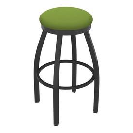 802 Misha Swivel Stool with Pewter Finish and Canter Kiwi Green Seat