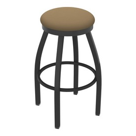802 Misha Swivel Stool with Pewter Finish and Canter Sand Seat