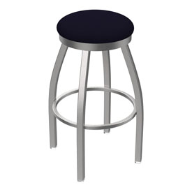 802 Misha Swivel Stool with Stainless Finish and Canter Twilight Seat