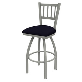 810 Contessa Swivel Stool with Anodized Nickel Finish and Canter Twilight Seat
