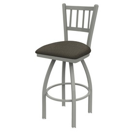 810 Contessa Swivel Stool with Anodized Nickel Finish and Graph Chalice Seat