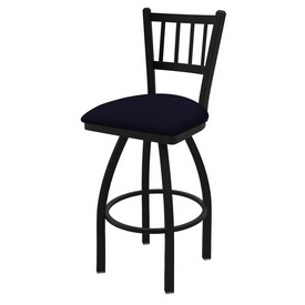 """810 Contessa 36"""" Swivel Bar Stool with Black Wrinkle Finish and Canter Twilight Seat"""