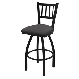 """810 Contessa 36"""" Swivel Bar Stool with Black Wrinkle Finish and Canter Storm Seat"""