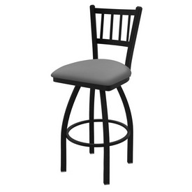 "810 Contessa 36"" Swivel Bar Stool with Black Wrinkle Finish and Canter Folkstone Grey Seat"