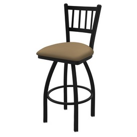 810 Contessa Swivel Stool with Black Wrinkle Finish and Canter Sand Seat