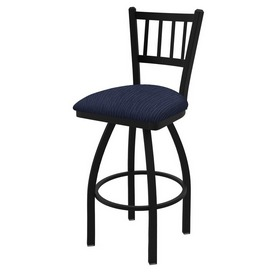 "810 Contessa 36"" Swivel Bar Stool with Black Wrinkle Finish and Graph Anchor Seat"