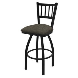 "810 Contessa 36"" Swivel Bar Stool with Black Wrinkle Finish and Graph Chalice Seat"