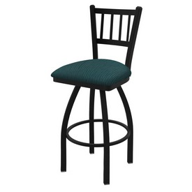 """810 Contessa 36"""" Swivel Bar Stool with Black Wrinkle Finish and Graph Tidal Seat"""