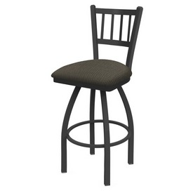 810 Contessa Swivel Stool with Pewter Finish and Graph Chalice Seat